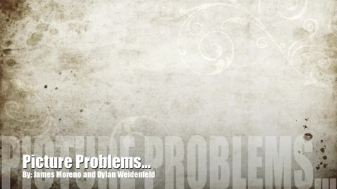 Thumbnail for entry Picture Problem