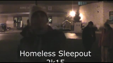 Thumbnail for entry Homeless sleep out