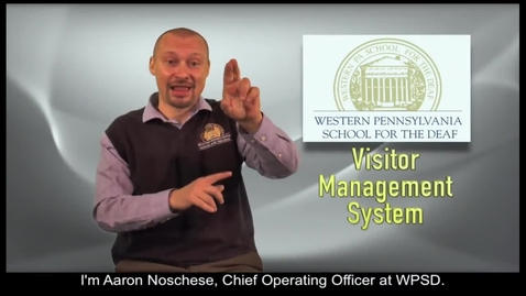Thumbnail for entry The WPSD Visitor Management System