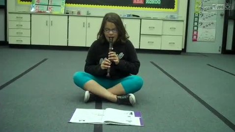 """Thumbnail for entry Alyssa P. playing """"Amazing Grace"""" on the recorder, 2011, Mrs. Hendrix class"""