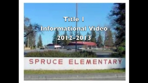 Thumbnail for entry Title I at Spruce Elementary