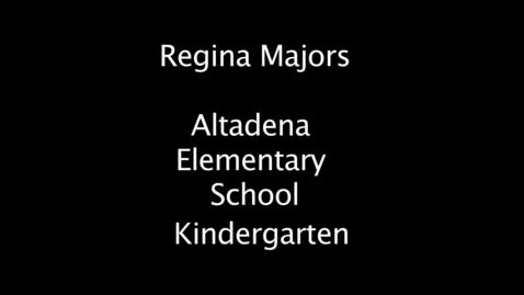 Thumbnail for entry 2011 Pasadena Rotary Teacher of Excellence Nominee Regina Majors