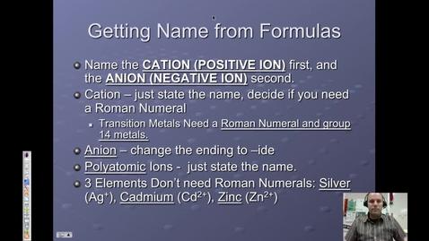 Thumbnail for entry 17. Ionic Naming & Metallic Bonding
