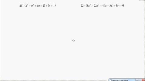 Thumbnail for entry Algebra1B Test 1 Review #21-24