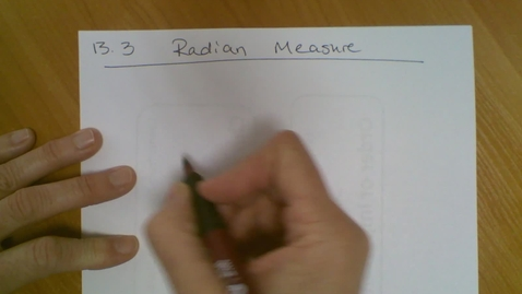 Thumbnail for entry Trig (13.3) Radians