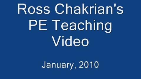 Thumbnail for entry Ross Chakrian's Teaching Video #1