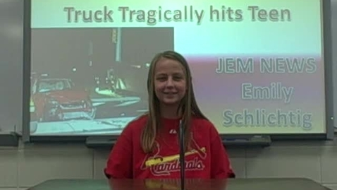 Thumbnail for entry Truck Tragically Hits Teen