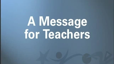 Thumbnail for entry Universal Words: Message to Teachers