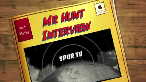 Thumbnail for entry Mr. Hunt's Principal Interview with SPUR TV