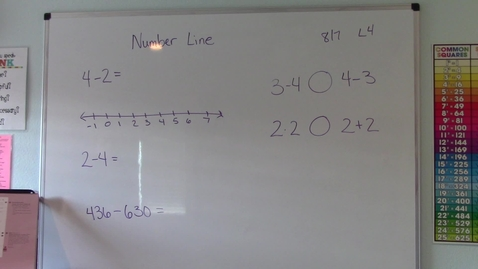 Thumbnail for entry Lesson 4 - Number Line