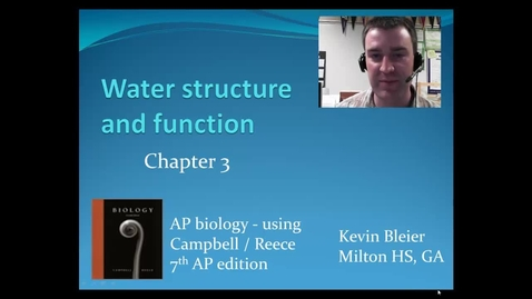 Thumbnail for entry Water structure and function