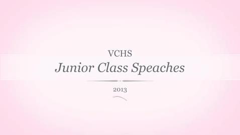 Thumbnail for entry Junior Class 2015 Speeches