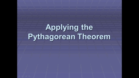 Thumbnail for entry Video #12 Unit 6 Pythagorean Theorem - Applying It