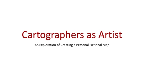 Thumbnail for entry Week April 27-May 1 2020 Cartographers as Artist Part 1