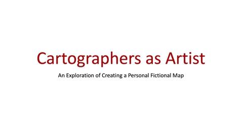 Thumbnail for entry Week April 27-May 1 2020 Cartographers as Artist Part 1