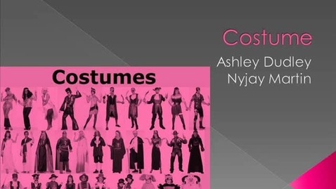 Thumbnail for entry Costume Time line