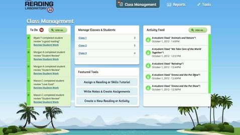 Thumbnail for entry SRA Reading Laboratory™ 2.0 eSampler: Teacher Resources - Management