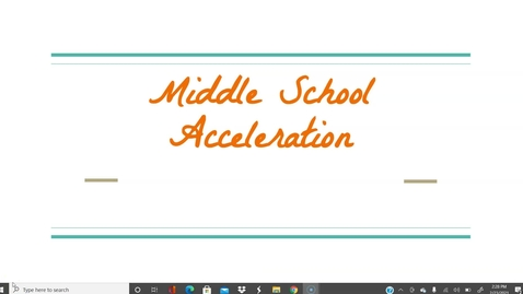 Thumbnail for entry HP Middle School 2021 Acceleration Video