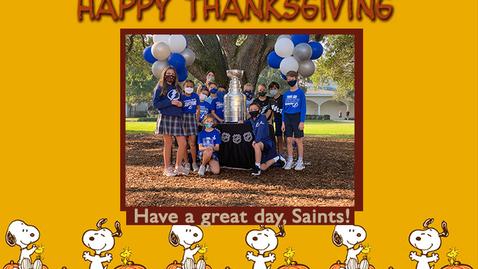 Thumbnail for entry Saints @ 8 - November 17, 2020
