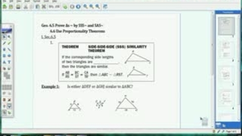 Thumbnail for entry 6.5-6.6 SSS & SAS Similarity and Prop. Theorems