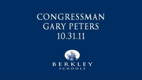 Thumbnail for entry Congressman Gary Peters Townhall Meeting 2011