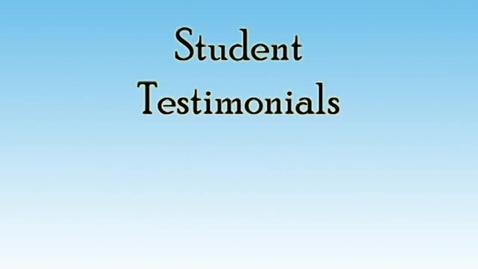Thumbnail for entry Student Testimonials- Fei Mancho