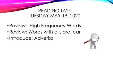 Thumbnail for entry Reading Task May 19