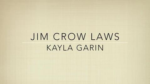 Thumbnail for entry P6 TKAM Jim Crow Laws Hicks