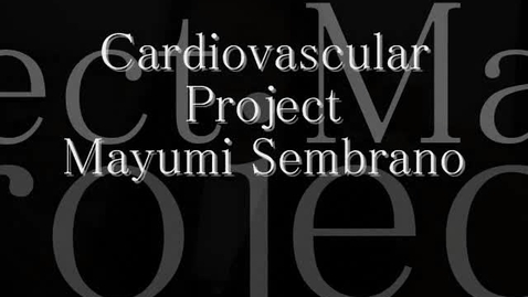 Thumbnail for entry Cardiovascular Project
