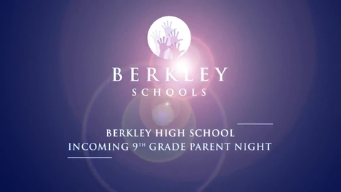 Thumbnail for entry 2013 BHS Incoming 9th Grade Parent Night