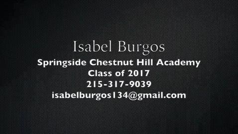 Thumbnail for entry Isabel Burgos
