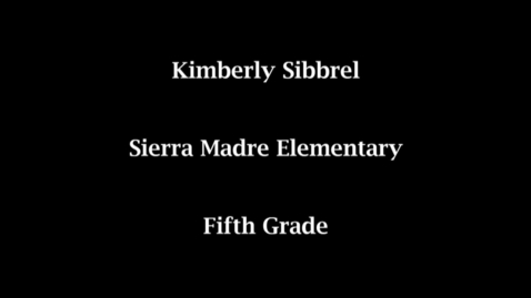 Thumbnail for entry 2011 Teacher of Excellence Nominee Kimberly Sibbrel
