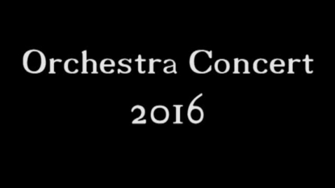 Thumbnail for entry Taylor Orchestra Winter Concert 2016