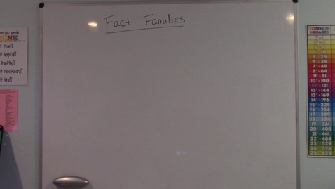 Thumbnail for entry Fact Families