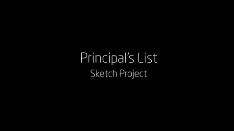 Thumbnail for entry Principal's List Sketch Project