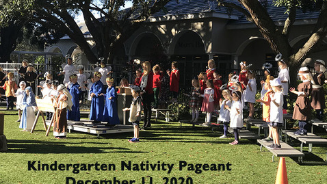 Thumbnail for entry Kindergarten Nativity Pageant 2020