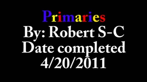 Thumbnail for entry Primaries Episode 1