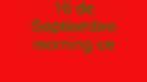 Thumbnail for entry 16 de septiembre morning celebration