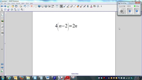 Thumbnail for entry Solving Multi-Step Equations 02 (Distributive Property)