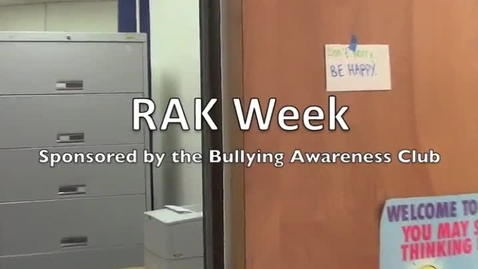 Thumbnail for entry Random Acts of Kindness Week