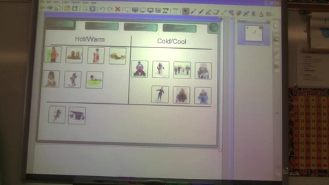 Thumbnail for entry Weather Sorting Smart Board Activity