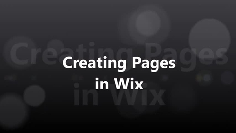 Thumbnail for entry Creating Pages in Wix 2017