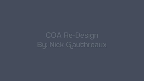 Thumbnail for entry Nick Gauthreaux's Council On Aging Re-Design