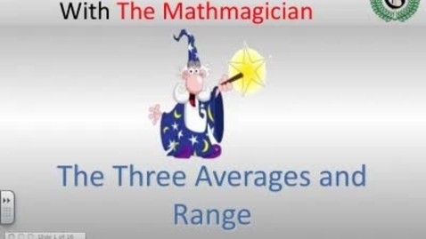 Thumbnail for entry The Three Averages and Range