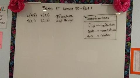 Thumbnail for entry Saxon 8/7 Lesson 80 part 1