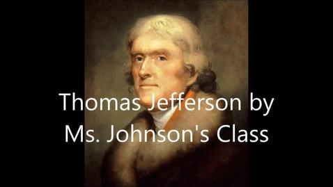 Thumbnail for entry Johnson 1st Grade Thomas Jefferson