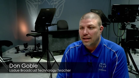 Thumbnail for entry Don Goble teaching Broadcast Technology news package