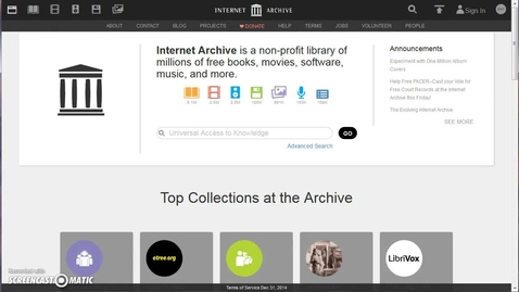 Thumbnail for entry Internet Archive: Overview for Educators
