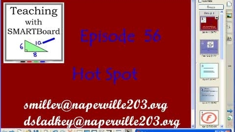 Thumbnail for entry Teaching with Smartboard Episode 56     Hot Spot