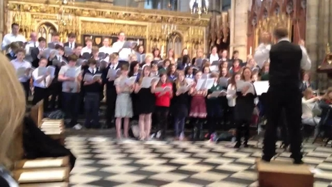 Thumbnail for entry Pupils perform @ Westminster Abbey